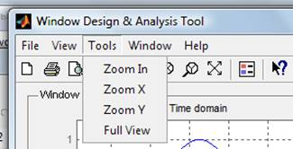 Signal Processing Toolbox: Window Design and Analysis Tool - Tools